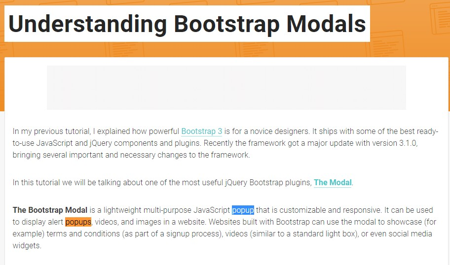 An additional  beneficial  content  regarding to Bootstrap Modal Popup