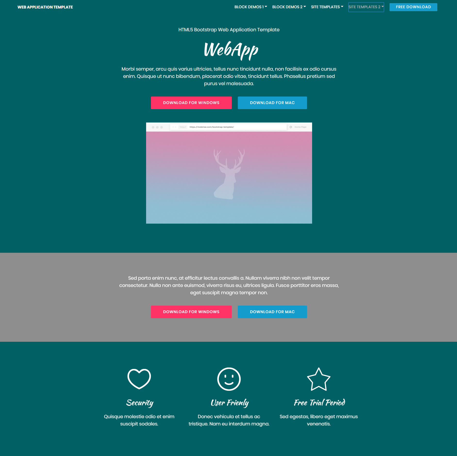 CSS3 Bootstrap Web Application Themes